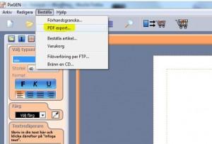 Fotobok PDF export